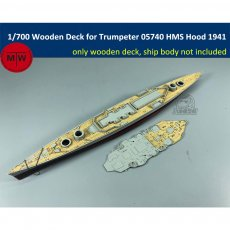 1/700 Scale Wooden Deck for Trumpeter 05740 HMS Battle Cruiser Hood 1941 Model TMW00037