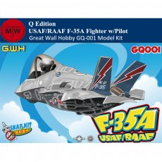Great Wall Hobby GQ-001 USAF/RAAF F-35A Fighter w/Pilot Q Edition Aircraft Assembly Model Snap Kits
