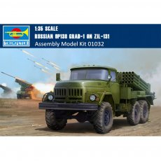 Trumpeter 01032 1/35 Scale Russian 9P138 Grad-1 on Zil-131 Military Plastic Assembly Model Kits