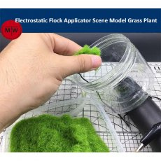 Mini Electrostatic Flock Applicator Scene Model Grass Plant DIY Tools Battery Powered CR008