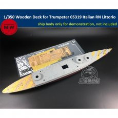 1/350 Scale Wooden Deck for Trumpeter 05319 Italian Navy Battleship RN Littorio 1941 Model TMW00043