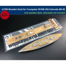 1/700 Scale Wooden Deck for Trumpeter 05768 USS Colorado BB-45 1944 Battleship Model Kit