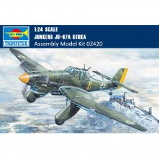 Trumpeter 02420 1/24 Scale Junkers Ju-87A Stuka Dive Bomber Military Plastic Aircraft Assembly Model Kit