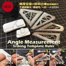 Angle Measurement Scribing Template Ruler Model Building Tools 4in1 AJ0092