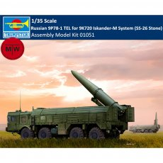 Trumpeter 01051 1/35 Scale Russian 9P78-1 TEL for 9K720 Iskander-M System (SS-26 Stone) Military Plastic Assembly Model Kits