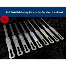 9in1 Detail Grinding Stick Model Building Tools for Gundam Handheld Decoration AJ0068