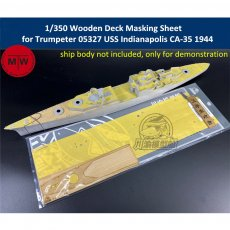 1/350 Scale Wooden Deck Masking Sheet for Trumpeter 05327 USS Indianapolis CA-35 1944 Ship Model TMW00057