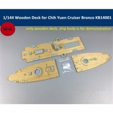 1/144 Scale Wooden Deck for Bronco KB14001 Beiyang Fleet Cruiser Chih Yuen Model