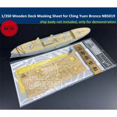 1/350 Scale Wooden Deck Masking Sheet for Imperial Chinese Peiyang Fleet Cruiser Ching Yuen Bronco NB5019 Ship Model TMW00066
