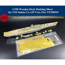 1/350 Scale Wooden Deck Masking Sheet for USS Salem CA-139 Very Fire VF350919 Ship Model TMW00075