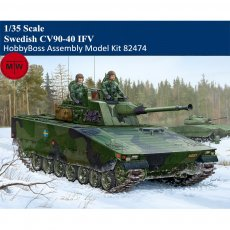 HobbyBoss 82474 1/35 Scale Swedish CV90-40 IFV Military Plastic Assembly Model Kits