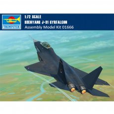 Trumpeter 01666 1/72 Scale Shenyang J-31 Gyrfalcon (Airshow China 2014) Military Plastic Aircraft Assembly Model Kit