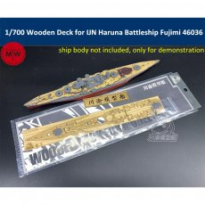 1/700 Scale Wooden Deck for IJN Haruna Battleship Fujimi 46036 Model TMW00079
