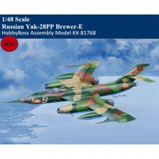 HobbyBoss 81768 1/48 Scale Russian Yak-28PP Brewer-E Military Plastic Aircraft Assembly Model Kits