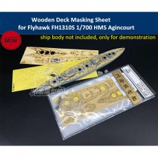 Wooden Deck & Masking Sheet for Flyhawk FH1310S 1/700 Scale HMS Agincourt Battleship Model