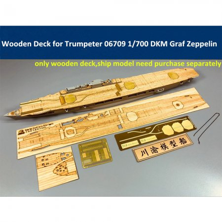 Wooden Deck for Trumpeter 06709 1/700 Scale German Aircraft Carrier DKM Graf Zeppelin Model CY700031