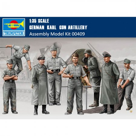Trumpeter 00409 1/35 Scale German Karl Gun Artillery Crew Military Soldier Figures Plastic Assembly Model Kits