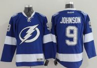 Tampa Bay Lightning -9 Tyler Johnson Blue Stitched NHL Jersey