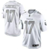 Nike Miami Dolphins -17 Ryan Tannehill Silver Grey