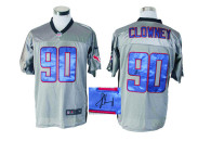Autographed Nike Houston Texans #90 Jadeveon Clowney Grey Shadow Men's NFL Elite Jersey