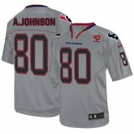 Nike Houston Texans #80 Andre Johnson Lights Out Grey With 10th Patch Men's Stitched NFL Elite Jerse