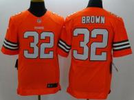 Nike Cleveland Browns -32 Jim Brown Orange Alternate Men's Stitched NFL Elite Jersey