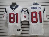 Nike Houston Texans #81 Owen Daniels White Men's Stitched NFL Elite Jersey