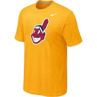 MLB Cleveland Indians Heathered Nike Yellow Blended T-Shirt