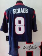 Nike Houston Texans #8 Matt Schaub Navy Blue Team Color Men's Stitched NFL Elite Autographed Jersey