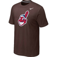 MLB Cleveland Indians Heathered Nike Brown Blended T-Shirt