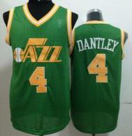Utah Jazz -4 Adrian Dantley Green Throwback Stitched NBA Jersey
