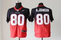 Nike Houston Texans #80 Andre Johnson Navy Blue Red Men's Stitched NFL Elite Fadeaway Fashion Jersey