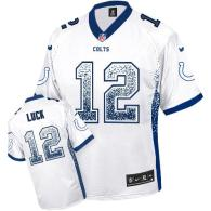 Nike Indianapolis Colts #12 Andrew Luck White Men's Stitched NFL Elite Drift Fashion Jersey