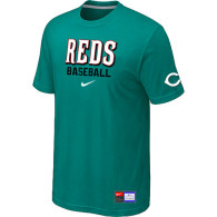 Cincinnati Reds Green Nike Short Sleeve Practice T-Shirt