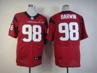 Nike Houston Texans #98 Connor Barwin Red Alternate With 10th Patch Men's Stitched NFL Elite Jersey