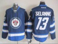 Winnipeg Jets -13 Teemu Selanne Dark Blue 2011 Style Stitched NHL Jersey
