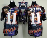 Nike New England Patriots -11 Julian Edelman Team Color Super Bowl XLIX Champions Patch Mens Stitche