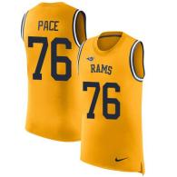Nike Rams -76 Orlando Pace Gold Stitched NFL Limited Rush Tank Top Jersey