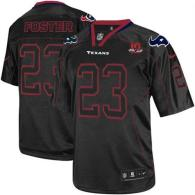 Nike Houston Texans #23 Arian Foster Lights Out Black With 10th Patch Men's Stitched NFL Elite Jerse