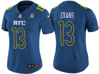WOMEN'S NFC 2017 PRO BOWL TAMPA BAY BUCCANEERS #13 MIKE EVANS BLUE GAME JERSEY