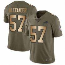 Nike Bills -57 Lorenzo Alexander Olive Gold Stitched NFL Limited 2017 Salute To Service Jersey