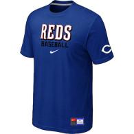 Cincinnati Reds Blue Nike Short Sleeve Practice T-Shirt