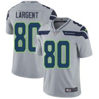 Nike Seahawks -80 Steve Largent Grey Alternate Stitched NFL Vapor Untouchable Limited Jersey