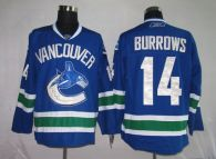 Vancouver Canucks -14 Alexandre Burrows Stitched Blue NHL Jersey