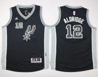San Antonio Spurs #12 LaMarcus Aldridge Black New Road Youth Stitched NBA Jersey