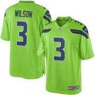 Seattle Seahawks -3 Russell Wilson Green Nike Color Rush Limited Jersey