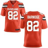 Nike Cleveland Browns -82 Gary Barnidge Orange Alternate Men's Stitched NFL New Elite Jersey