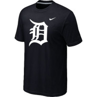 MLB Detroit Tigers Heathered Black Nike Blended T-Shirt