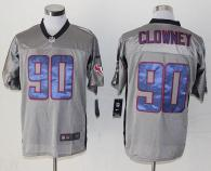 Nike Houston Texans #90 Jadeveon Clowney Grey Shadow Men's Stitched NFL Elite Jersey