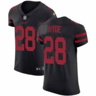 Nike 49ers -28 Carlos Hyde Black Alternate Stitched NFL Vapor Untouchable Elite Jersey